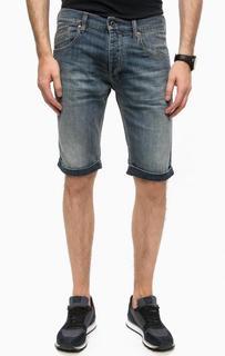 Джинсовые шорты с отворотами Armani Jeans