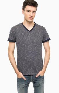 Хлопковая футболка в полоску Tom Tailor Denim