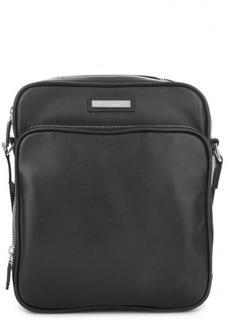 Маленькая кожаная сумка с широким плечевым ремнем Baldinini