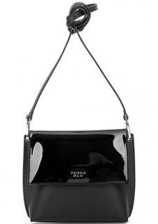 Черная кожаная сумка через плечо Tosca BLU
