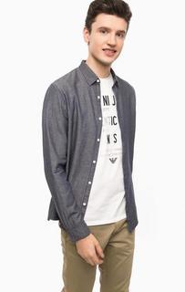 Приталенная рубашка из хлопка Tom Tailor Denim