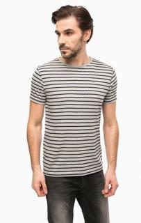 Серая футболка в полоску Tommy Hilfiger