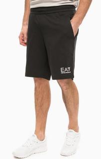 Спортивные шорты из хлопка с принтом EA7