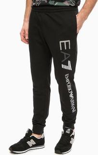 Черные спортивные брюки с манжетами EA7