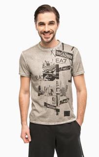 Хлопковая футболка с круглым вырезом EA7