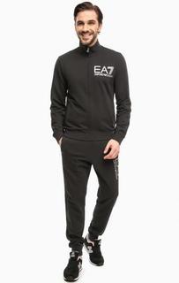 Хлопковый костюм с логотипом бренда EA7