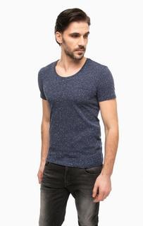 Синяя футболка с короткими рукавами Antony Morato