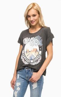 Серая футболка с вырезами на спине Superdry