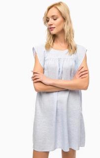 Льняное платье свободного кроя в полоску Pennyblack