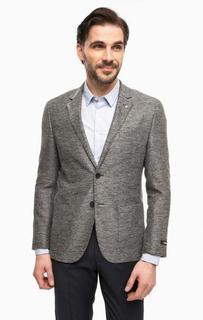 Серый пиджак с запонкой для лацкана Lagerfeld