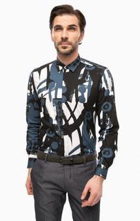 Рубашка из хлопка с абстрактным принтом Antony Morato