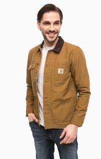 Легкая коричневая куртка с застежкой на болты Carhartt WIP