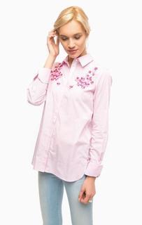 Рубашка с вышивкой и отделкой камнями Pennyblack