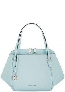 Голубая кожаная сумка через плечо Cromia