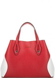 Кожаная сумка с контрастными вставками Cromia
