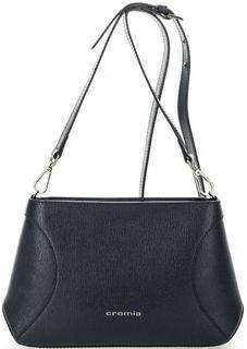 Синяя кожаная сумка через плечо Cromia