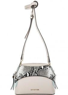 Бежевая сумка через плечо на молниях Cromia