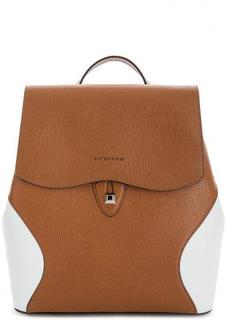 Коричневый рюкзак с одним отделом Cromia