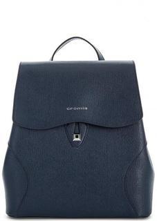 Синий кожаный рюкзак Cromia