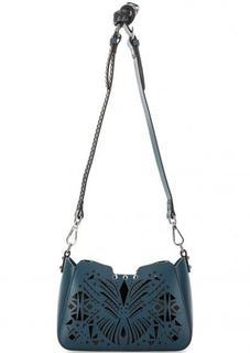 Синяя сумка со съемной косметичкой Cromia