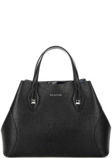 Черная сумка из сафьяновой кожи Cromia