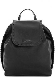Кожаный рюкзак с перфорацией на клапане Cromia