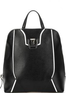 Кожаный рюкзак с контрастными вставками Cromia