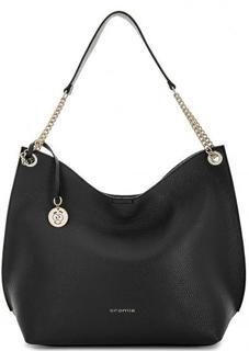 Черная сумка из натуральной кожи Cromia