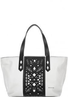 Белая сумка с контрастными вставками Cromia