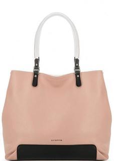 Розовая кожаная сумка на молнии Cromia