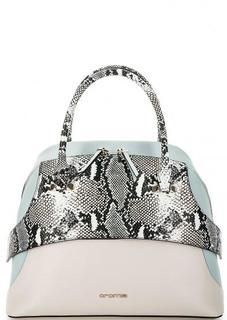 Кожаная сумка с выделкой под рептилию Cromia