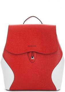 Красный рюкзак с контрастными вставками Cromia