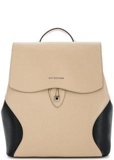 Бежевый кожаный рюкзак Cromia