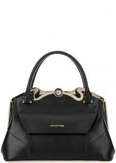 Кожаная сумка с фигурным рамочным замком Cromia