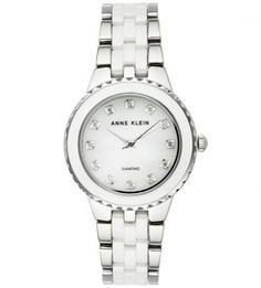 Часы с браслетом из металла и керамики Anne Klein