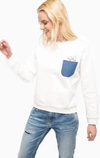 Белый свитшот с нагрудным карманом Paul & Joe Sister