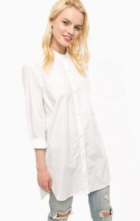 Белая туника-рубашка из хлопка Replay