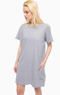Платье-футболка в полоску с карманом Replay