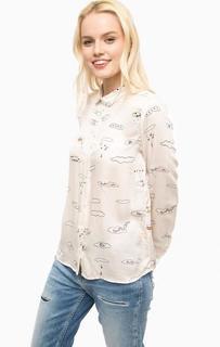 Рубашка из вискозы с закругленным воротничком Paul & Joe Sister