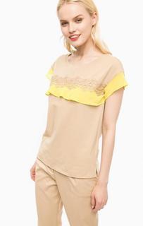 Хлопковая футболка с короткими рукавами Liu Jo