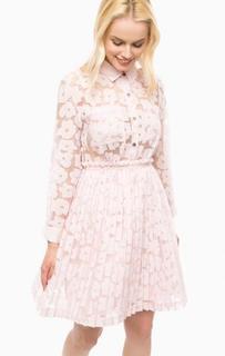 Розовое платье с плиссированной юбкой Paul & Joe Sister