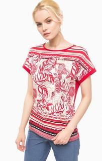 Хлопковая футболка с короткими рукавами Olsen