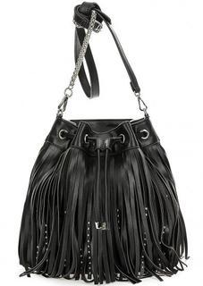 Черная сумка с одним отделом на кулиске Replay