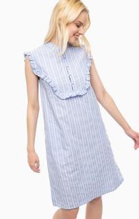 Синее хлопковое платье в полоску Paul & Joe Sister