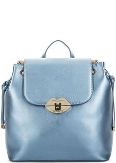 Синий рюкзак с лямками-цепочками Fornarina