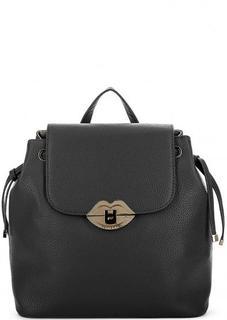 Черный рюкзак с одним отделом Fornarina