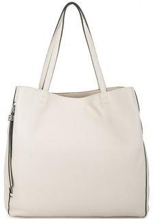 Вместительная кожаная сумка молочного цвета Gianni Chiarini