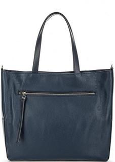Синяя сумка с одним отделом на молнии Gianni Chiarini
