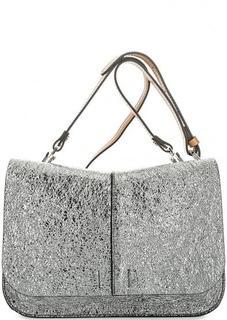 Серебристая сумка с откидным клапаном Gianni Chiarini