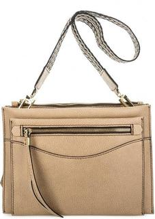Кожаная сумка со съемной ручкой и ремнем Gianni Chiarini